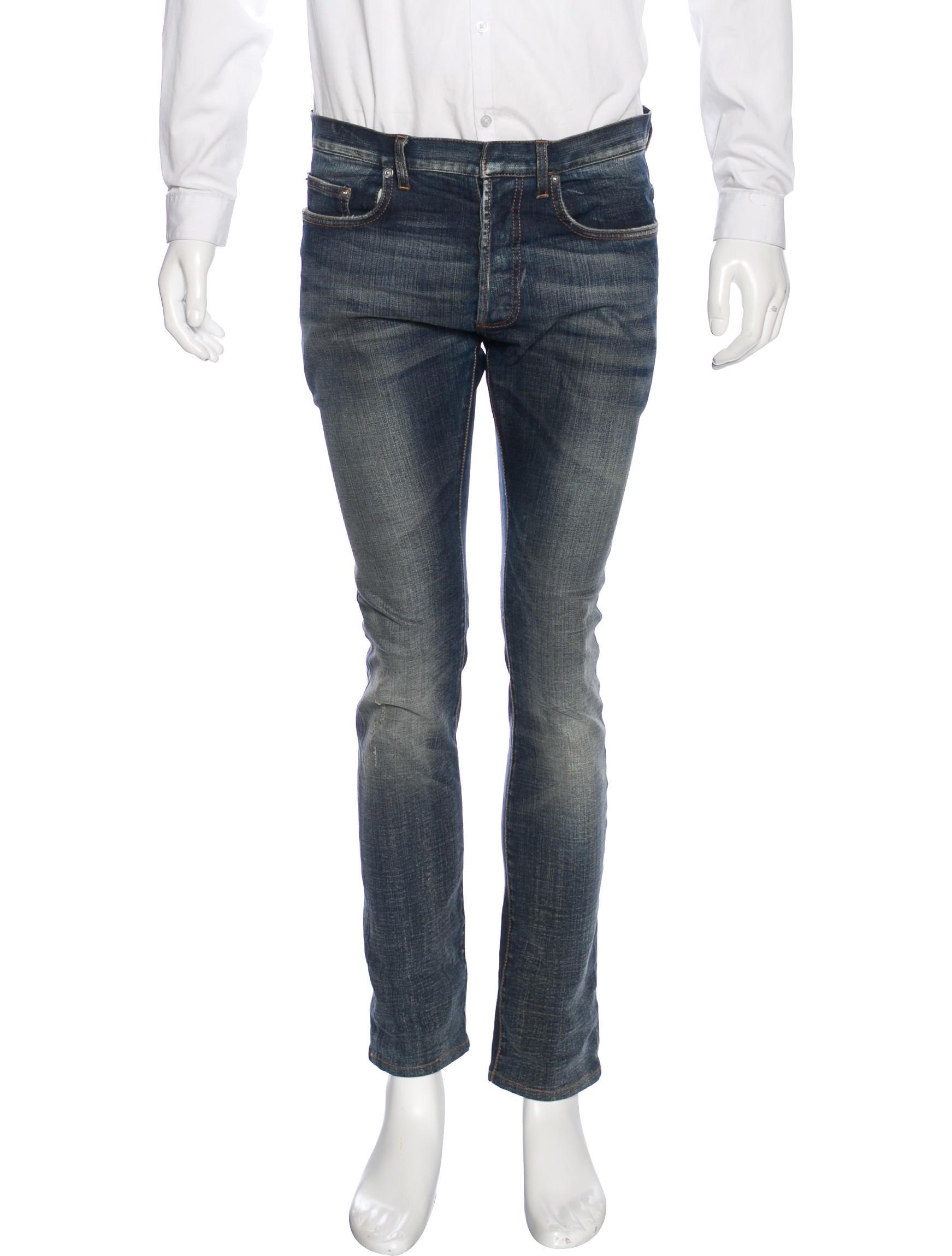 dior homme jake stone washed slim jeans clothing hmm23452 the realreal. Black Bedroom Furniture Sets. Home Design Ideas