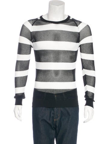Dior Homme 2007 Striped Mesh Sweater None