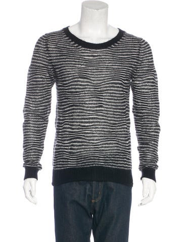 Dior Homme 2007 Striped Mohair Sweater None