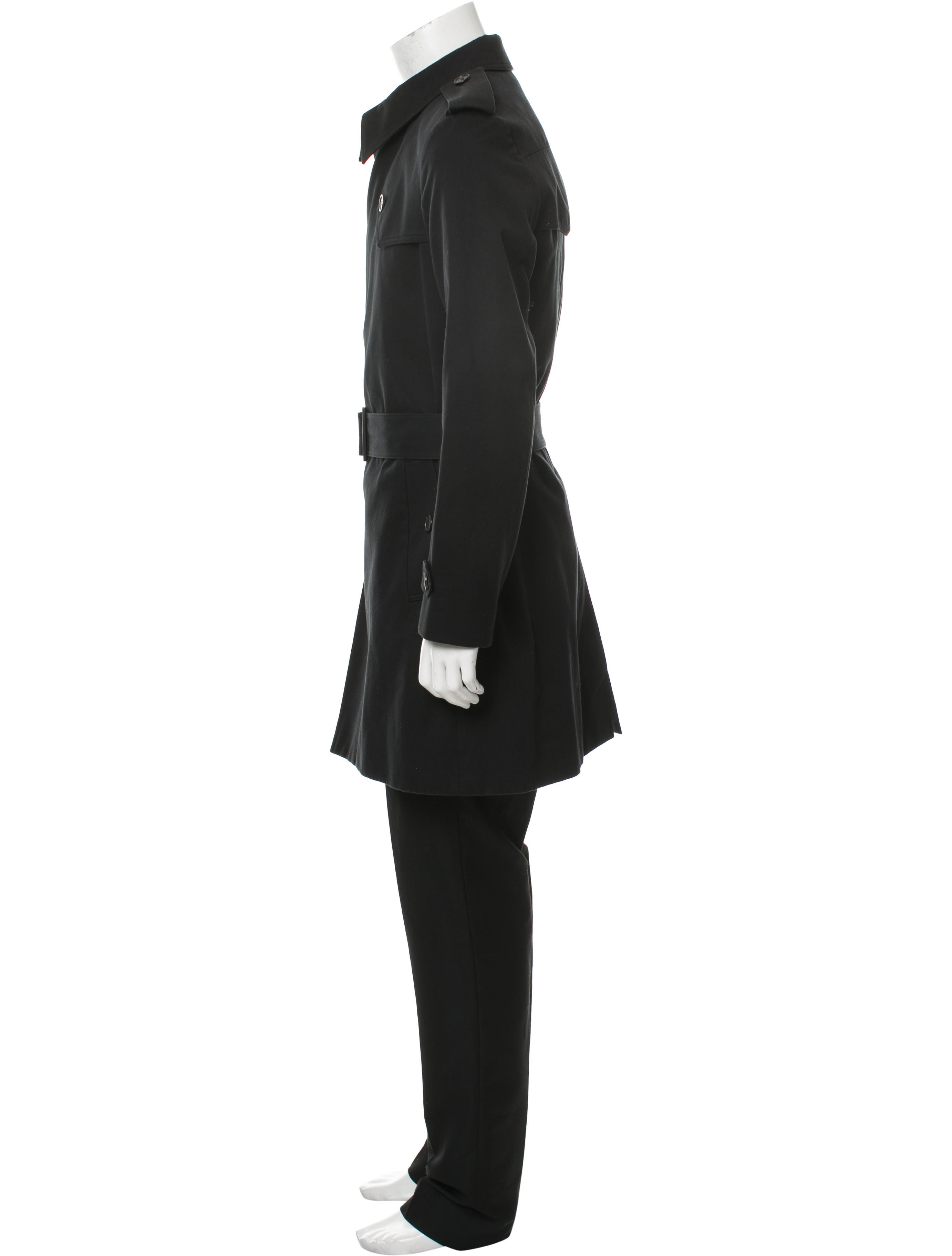 dior homme belted trench coat clothing hmm23697 the. Black Bedroom Furniture Sets. Home Design Ideas