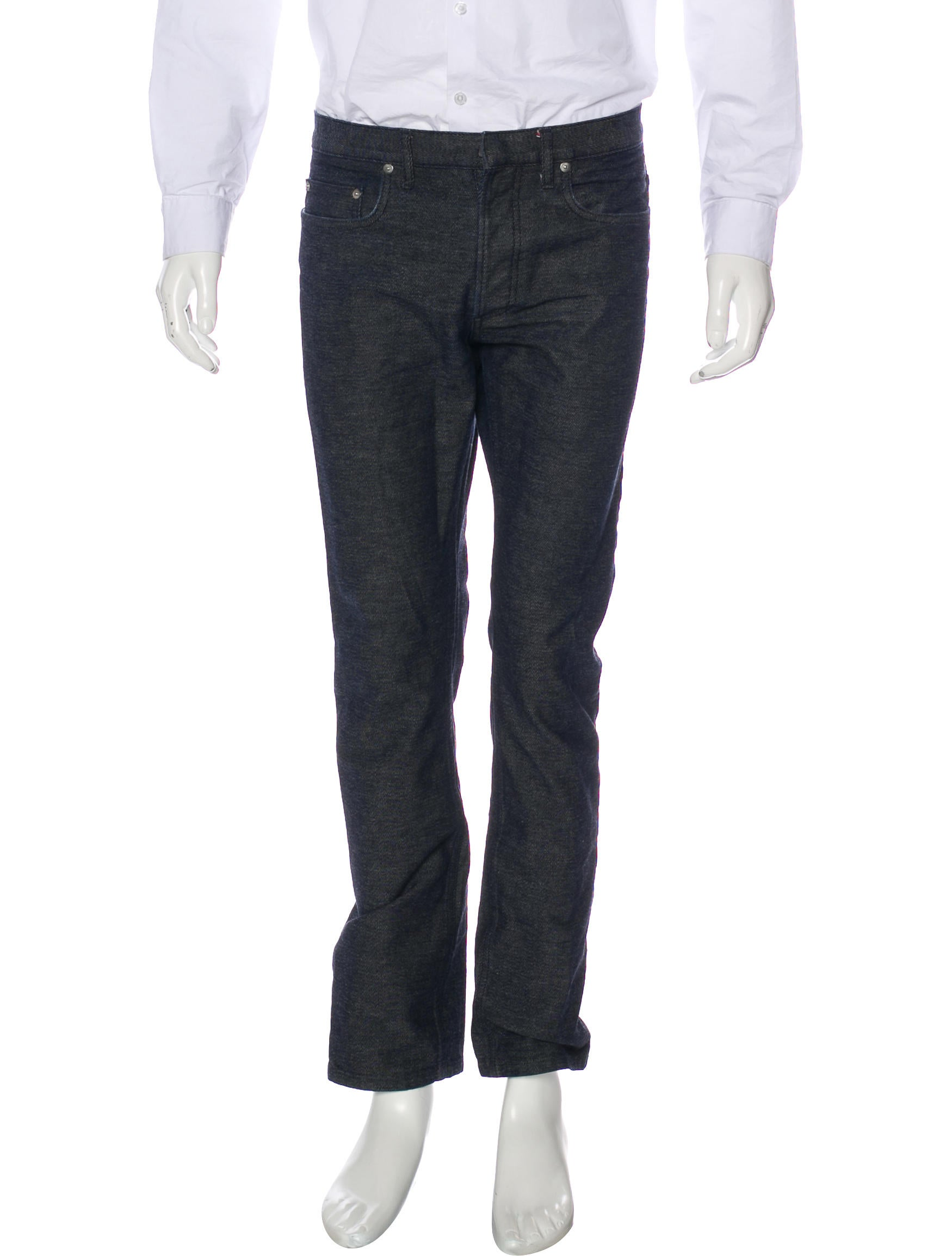 dior homme 19cm slim fit raw jeans clothing hmm23713 the realreal. Black Bedroom Furniture Sets. Home Design Ideas