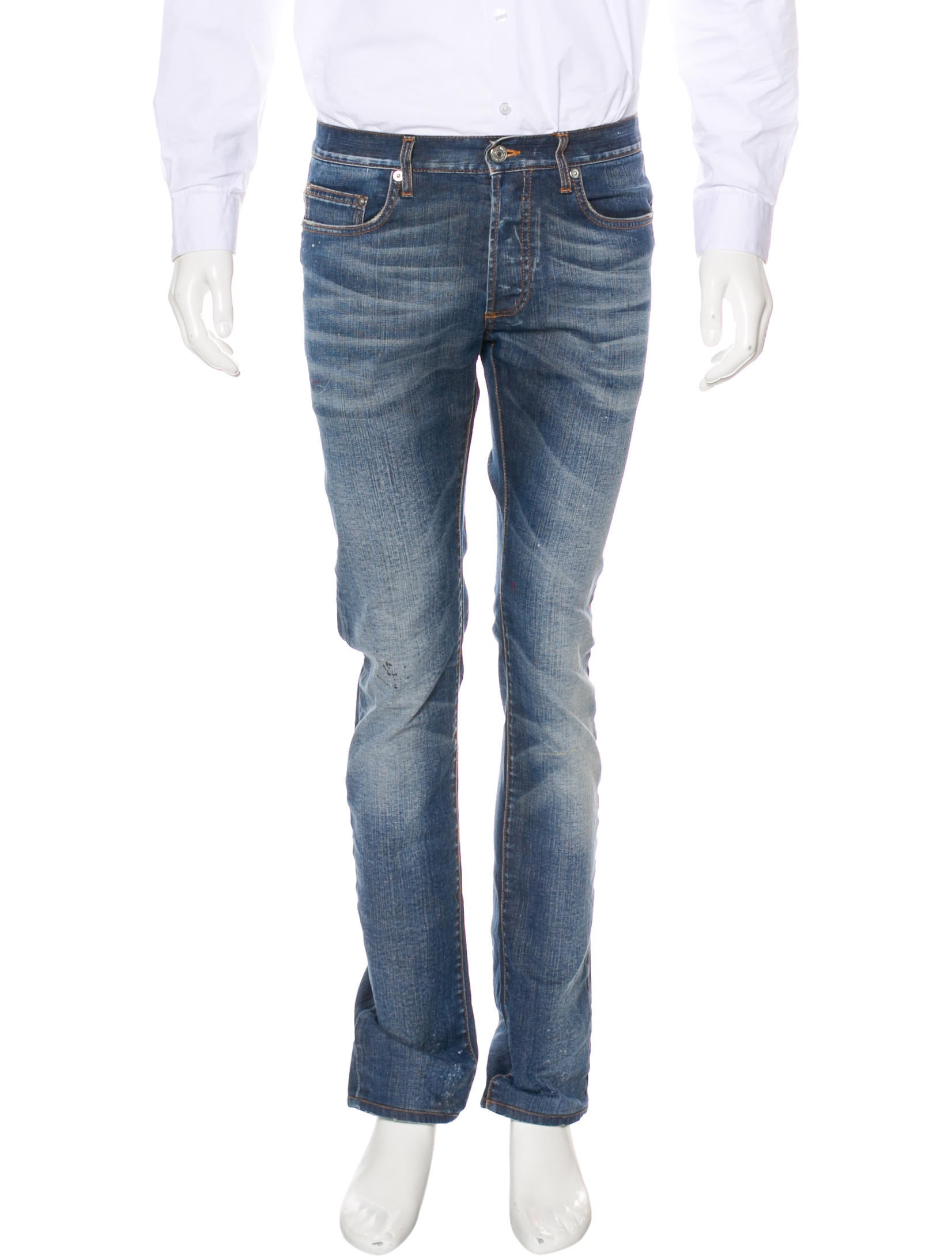 dior homme slim fit jeans clothing hmm23735 the realreal. Black Bedroom Furniture Sets. Home Design Ideas