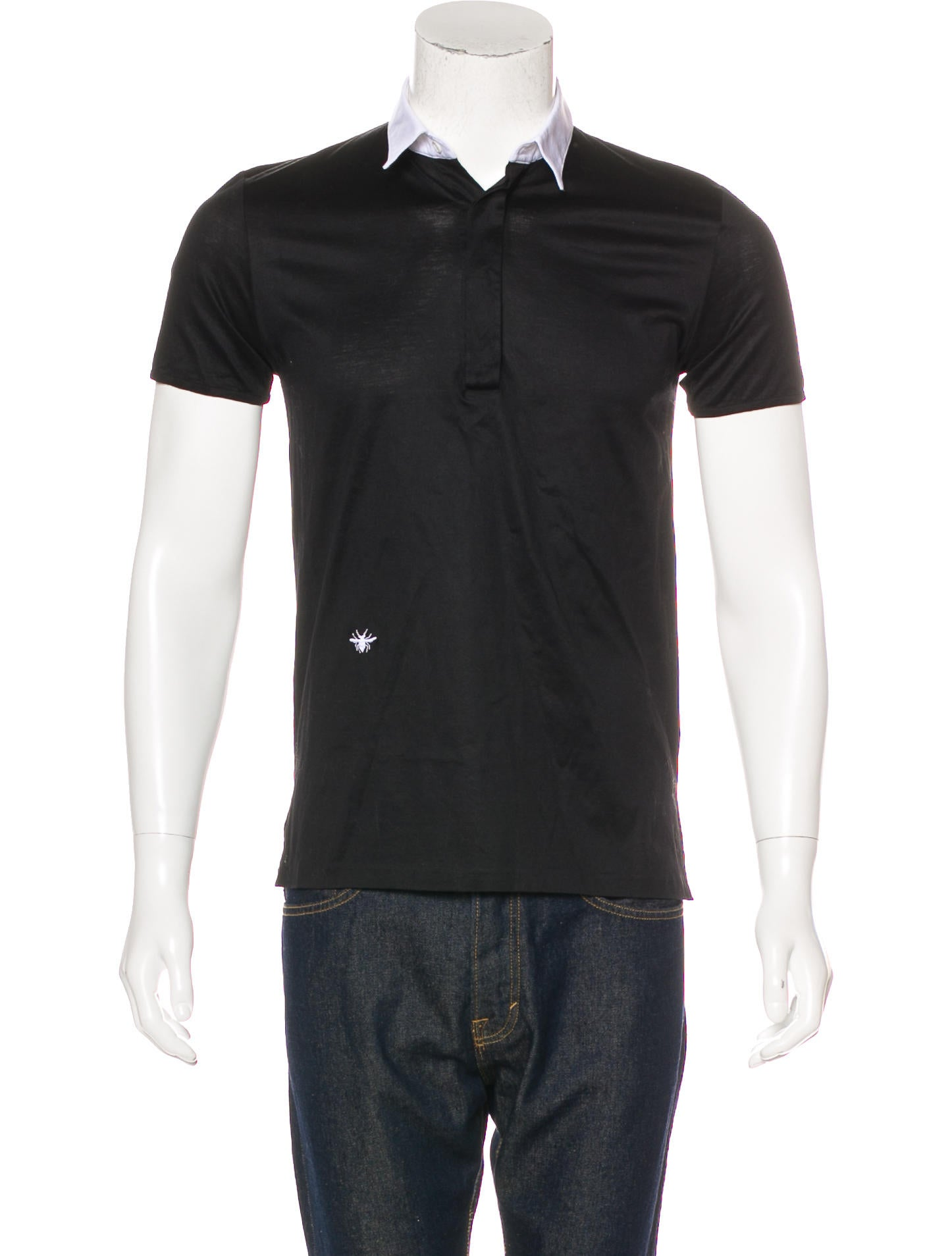 Dior homme bee embroidered polo shirt clothing