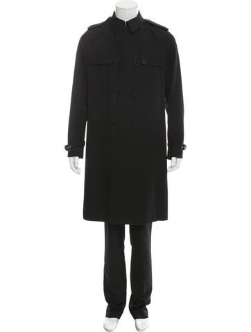dior homme double breasted wool trench coat clothing hmm23890 the realreal. Black Bedroom Furniture Sets. Home Design Ideas
