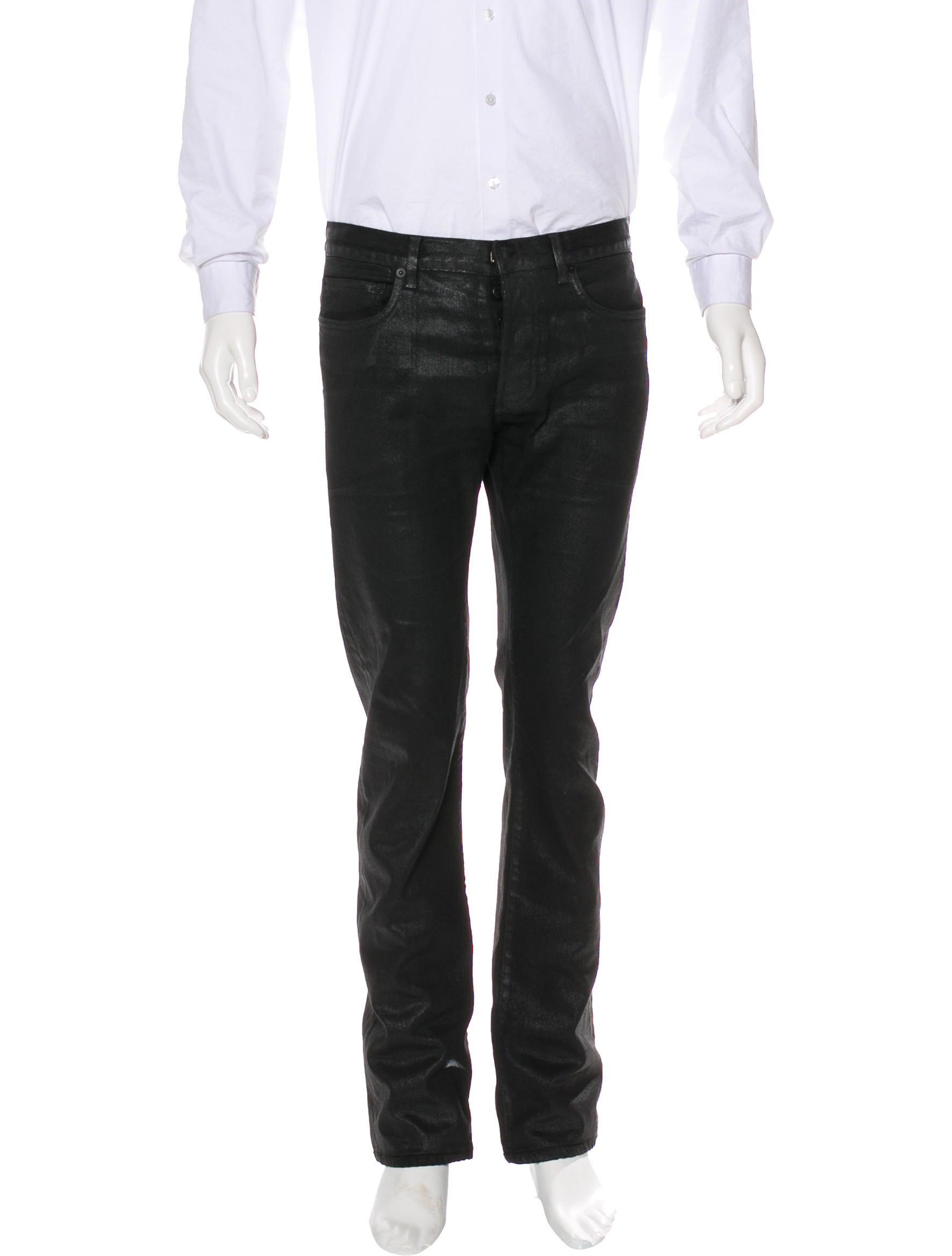 dior homme coated slim fit jeans clothing hmm23957 the realreal. Black Bedroom Furniture Sets. Home Design Ideas