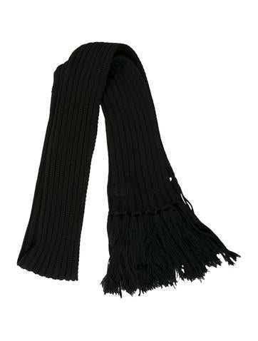 Dior Homme Fringe-Trimmed Rib Knit Scarf None
