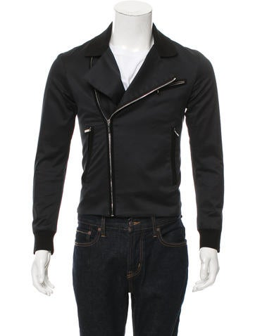 Dior Homme Rib Knit-Trimmed Moto Jacket None
