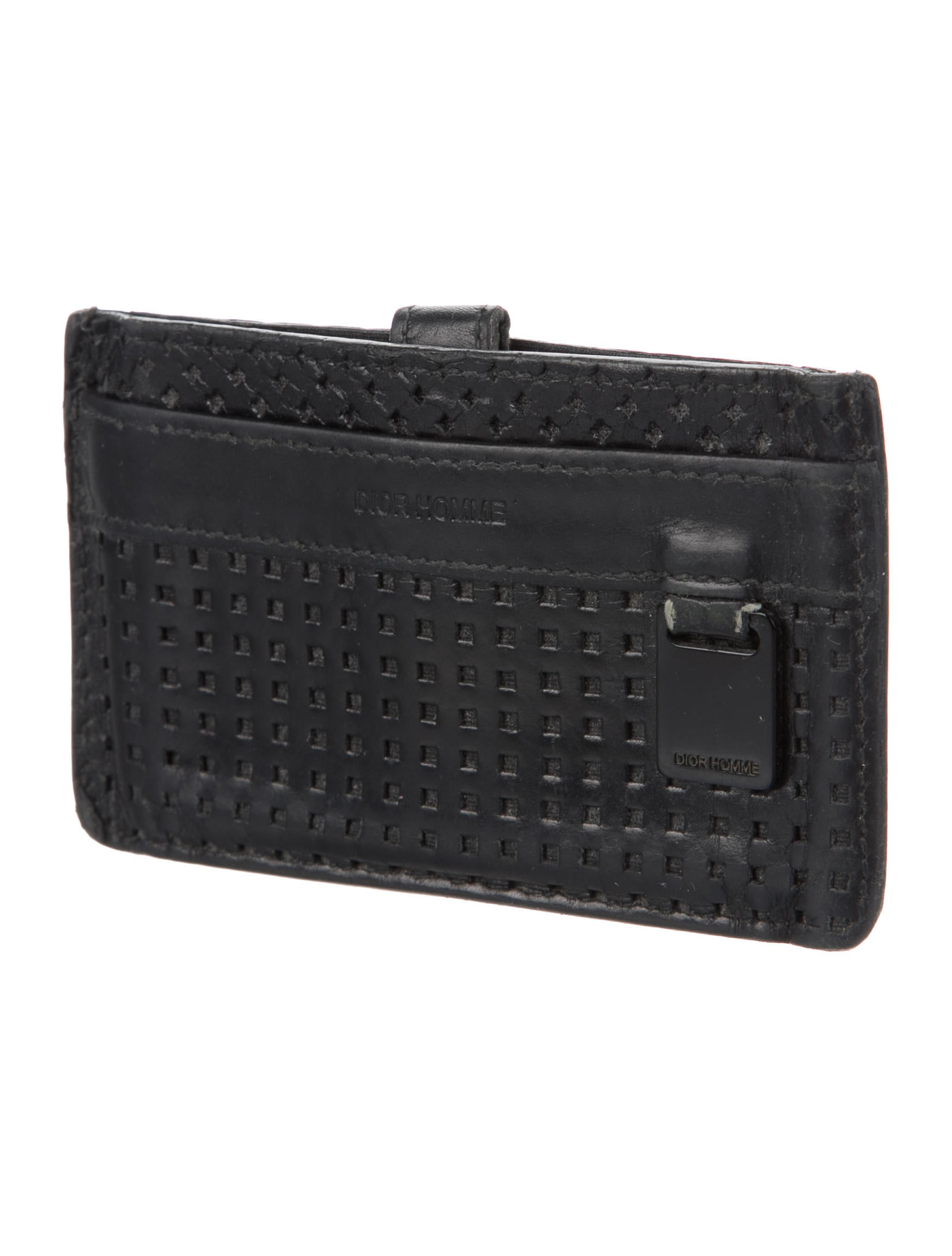 Dior Homme 2007 Logo Leather Card Holder - Accessories - HMM24502 ...
