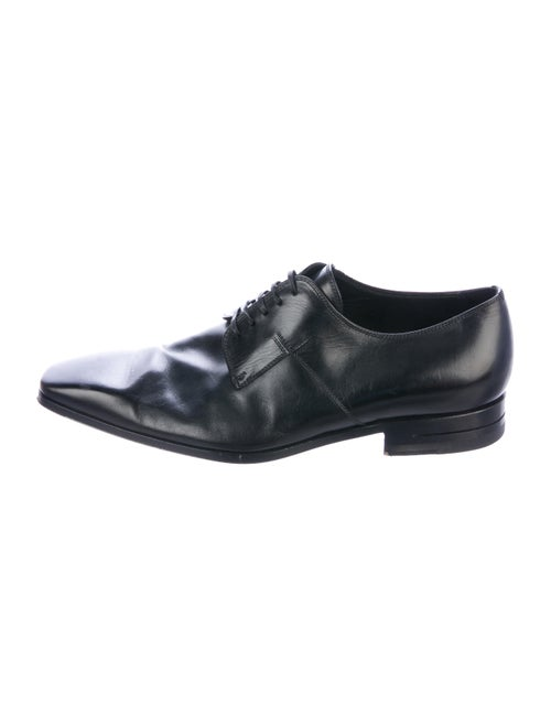 Dior Homme Leather Derby Shoes black