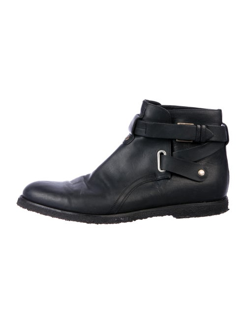 Dior Homme Leather Ankle Boots black