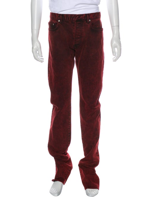 Dior Homme Skinny Jeans Red