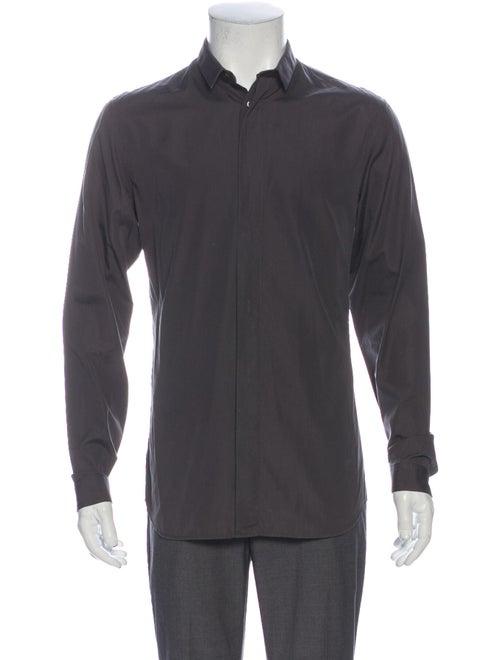Dior Homme Long Sleeve Dress Shirt Grey