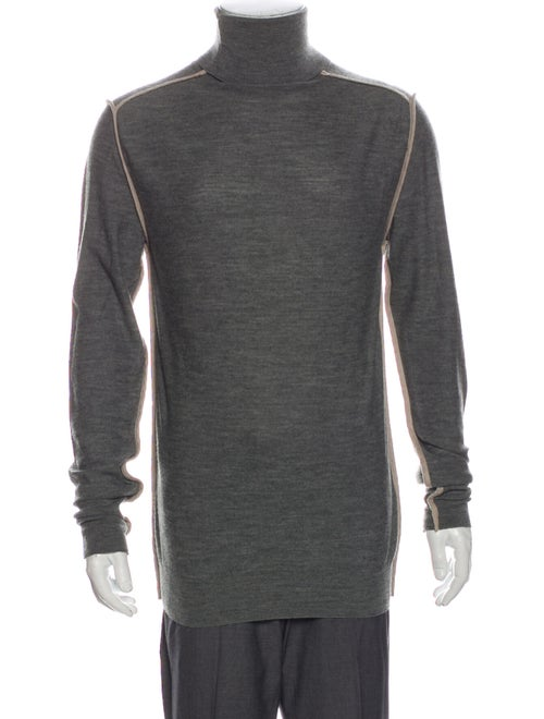 Dior Homme Turtleneck Long Sleeve Pullover Grey