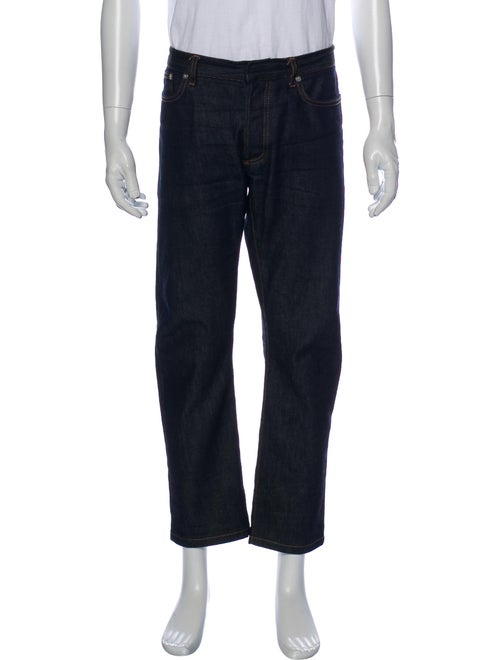 Dior Homme Cropped Straight-Leg Jeans Blue