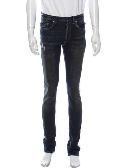 Dior Homme Distressed Skinny Jeans Skinny Jeans Bl