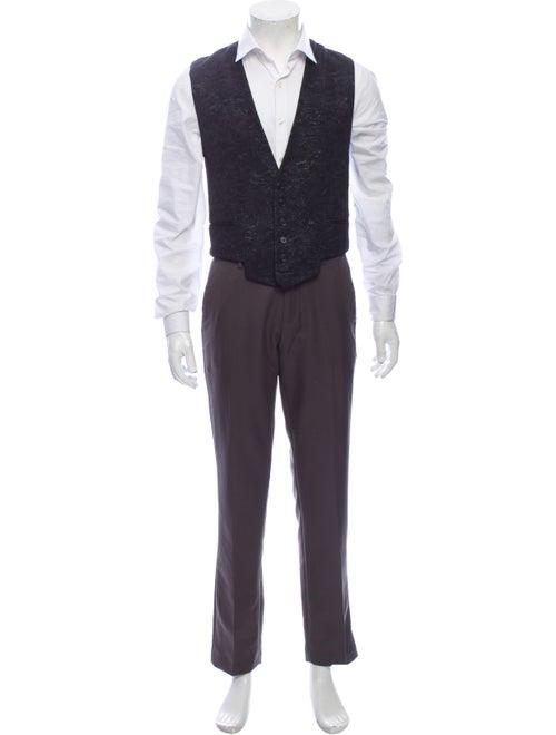 Dior Homme Metallic Jacquard Embroidered Vest Suit