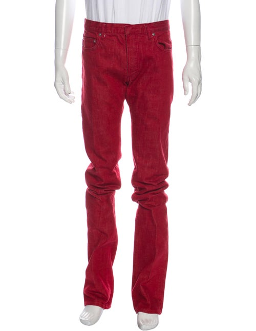 Dior Homme Slim Fit Jeans Red