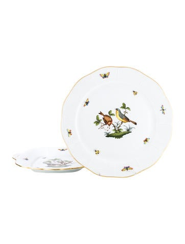 Herend Set of Two Rothschild Bird Serving Plates None