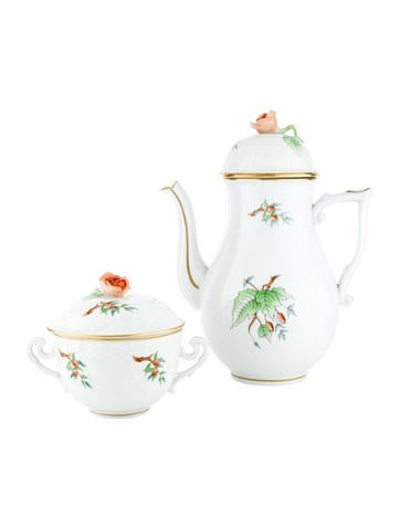 Herend Coffee Pot & Covered Cup None