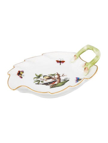 Herend Rothschild Bird Leaf Dish None