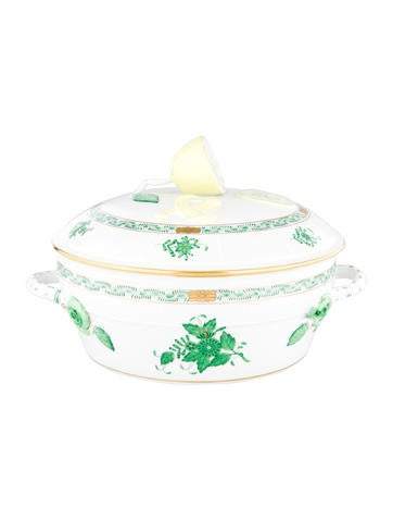 Herend Chinese Bouquet Covered Vegetable Server None