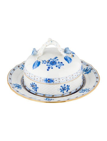Herend Chinese Bouquet Covered Butter Dish None
