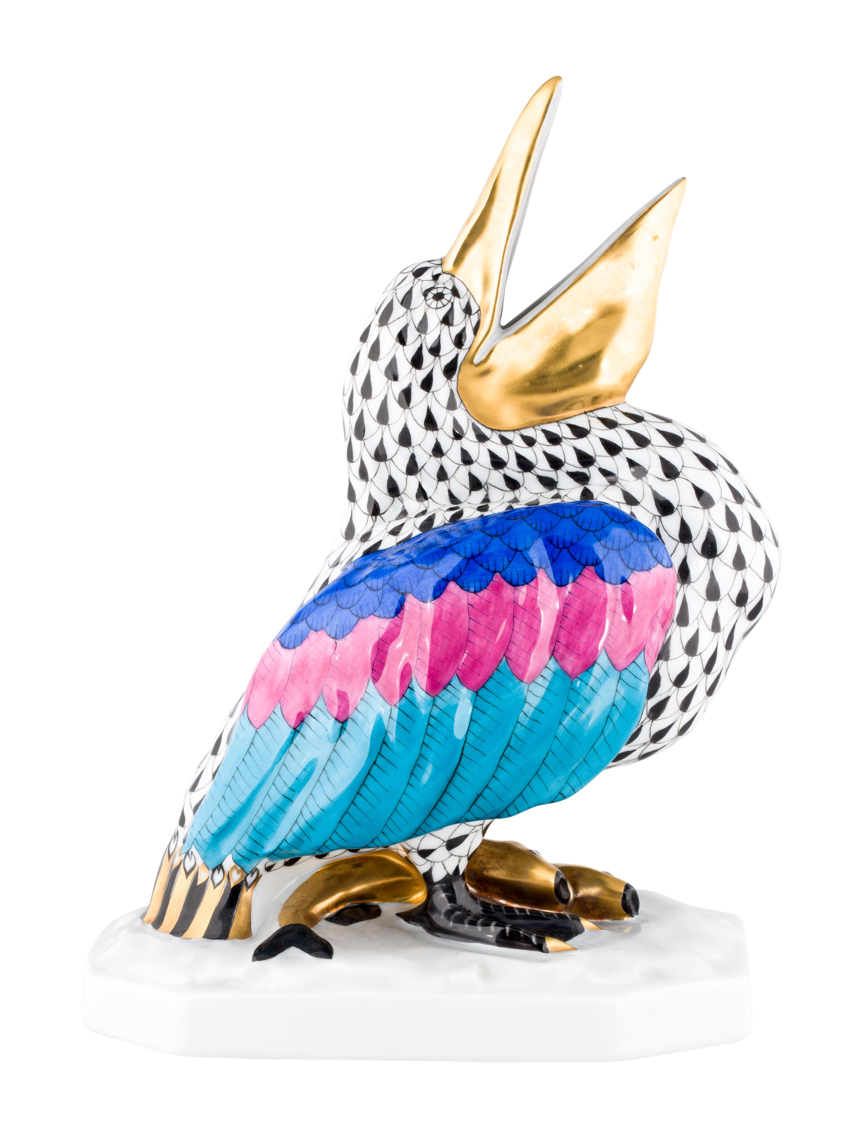 Herend Porcelain Pelican Figurine Decor And Accessories