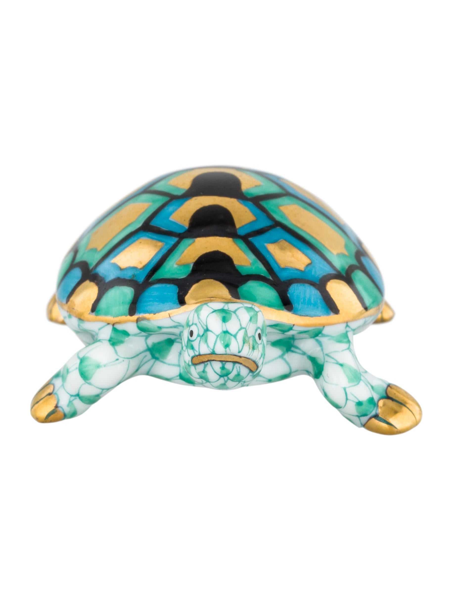 Herend baby turtle figurine decor and accessories Turtle decorations for home