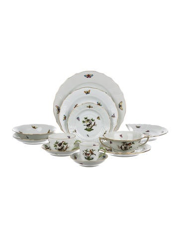 Herend 88-Piece Rothschild Bird Partial-Table Service None