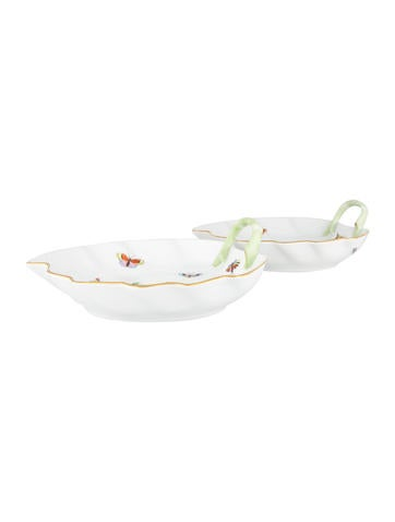 Herend Rothschild Bird Leaf Dishes None