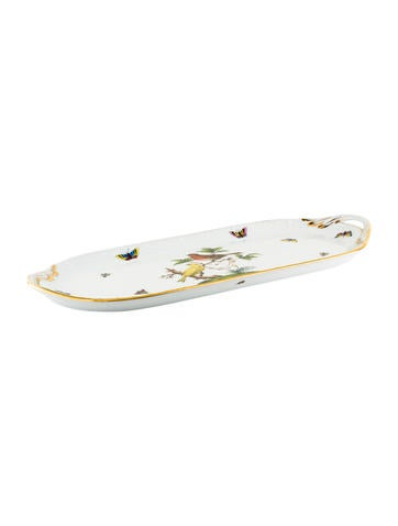 Herend Rothschild Bird Oval Tray None