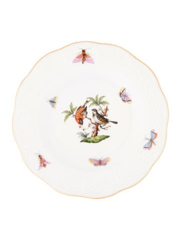 Herend Rothschild Bird Bread Plate None