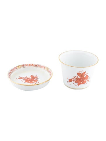Herend Chinese Bouquet Flower Pot with Under Plate None