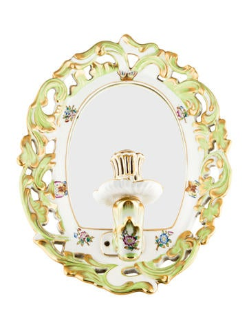 Herend Queen Victoria Mirrored Wall Sconce None