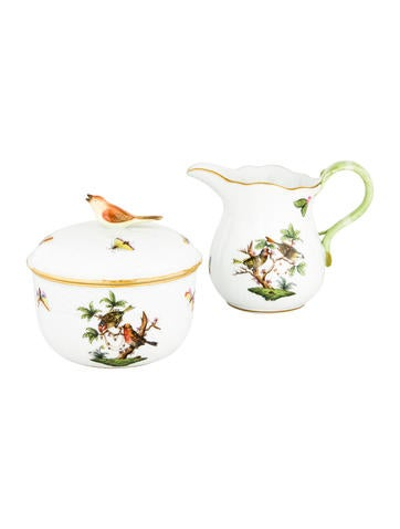 Herend Rothschild Bird Milk Pitcher & Sugar None