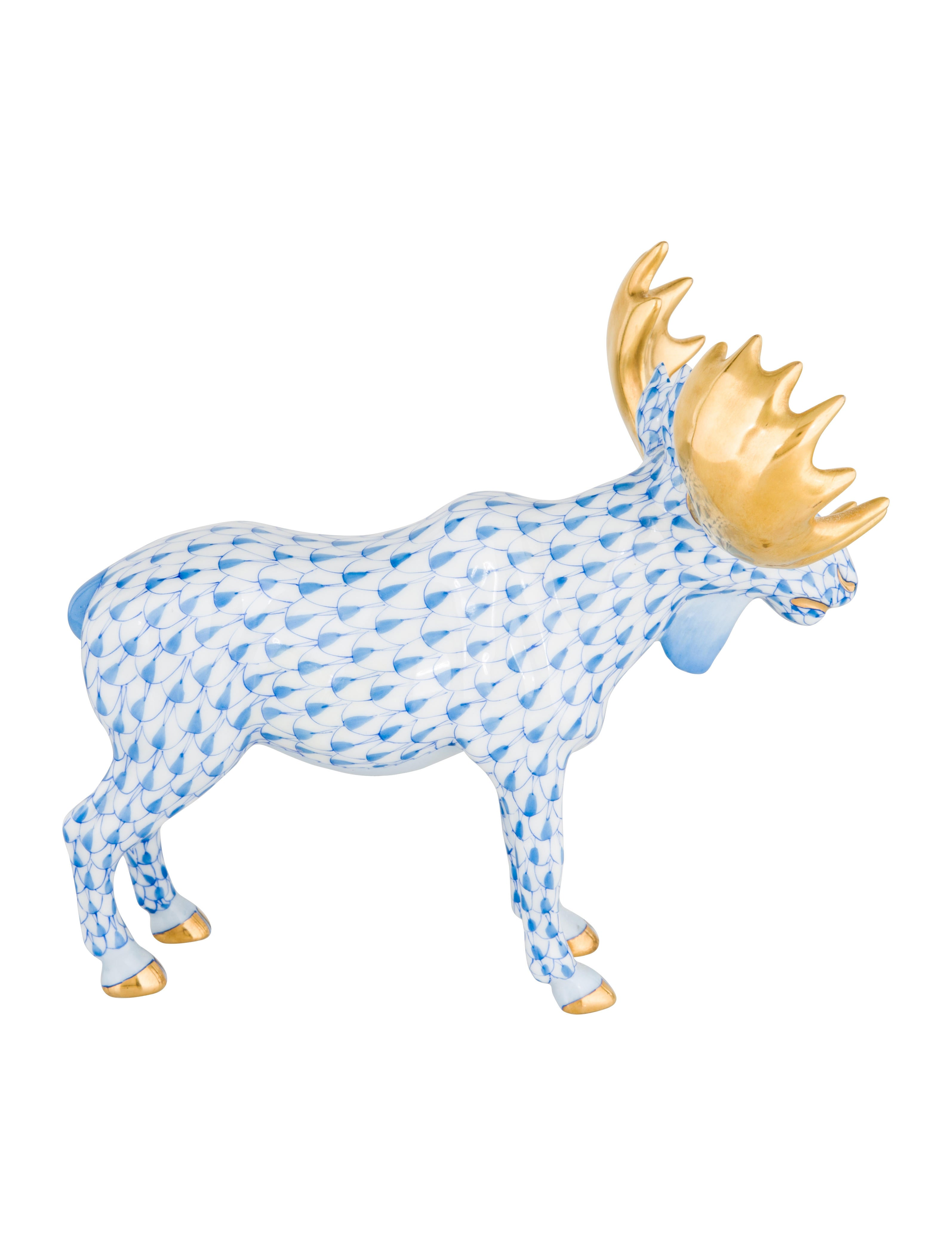 Herend Porcelain Moose Figurine - Decor And Accessories - HND22026 ...