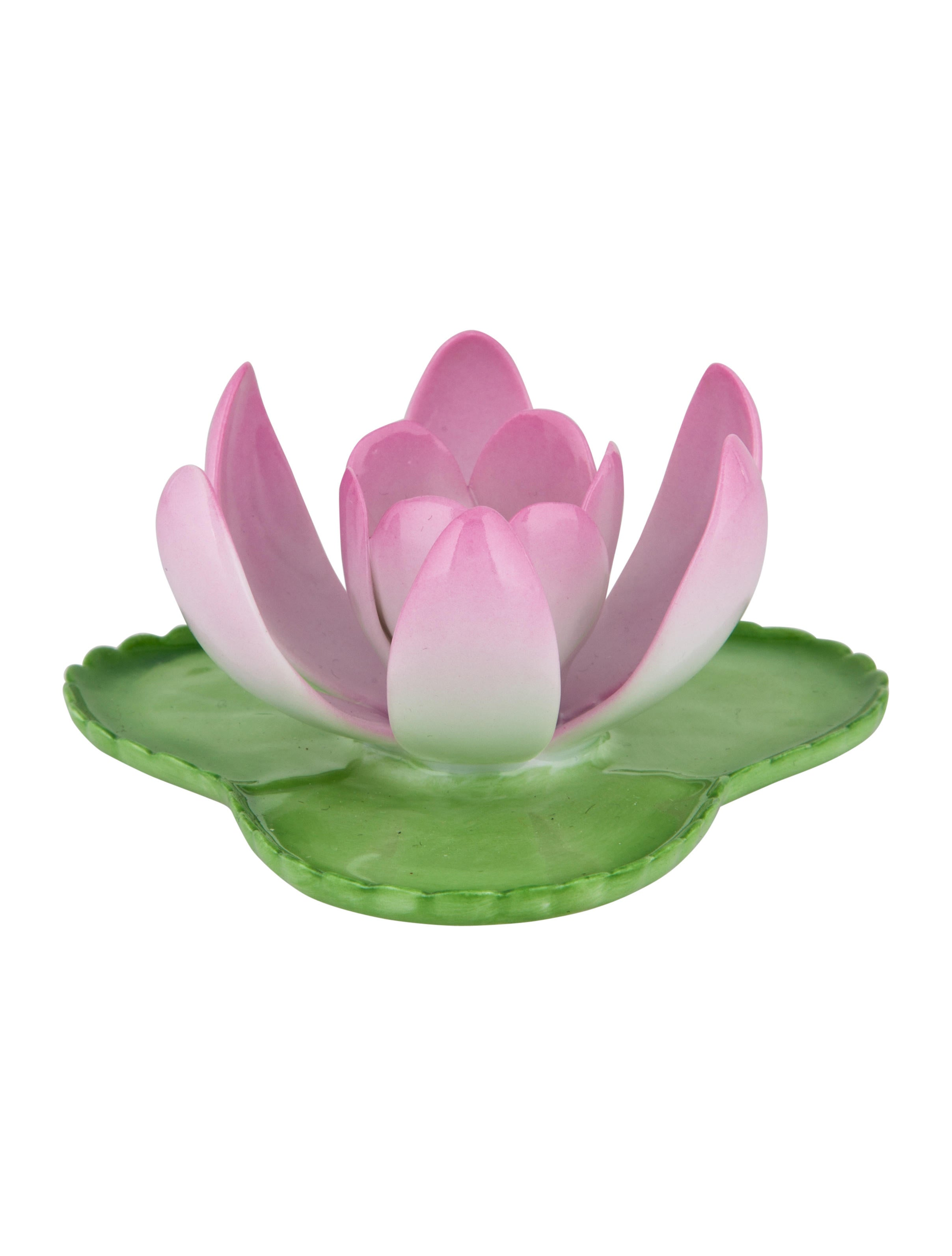 Herend Porcelain Flowers On Lily Pads Decor And Accessories