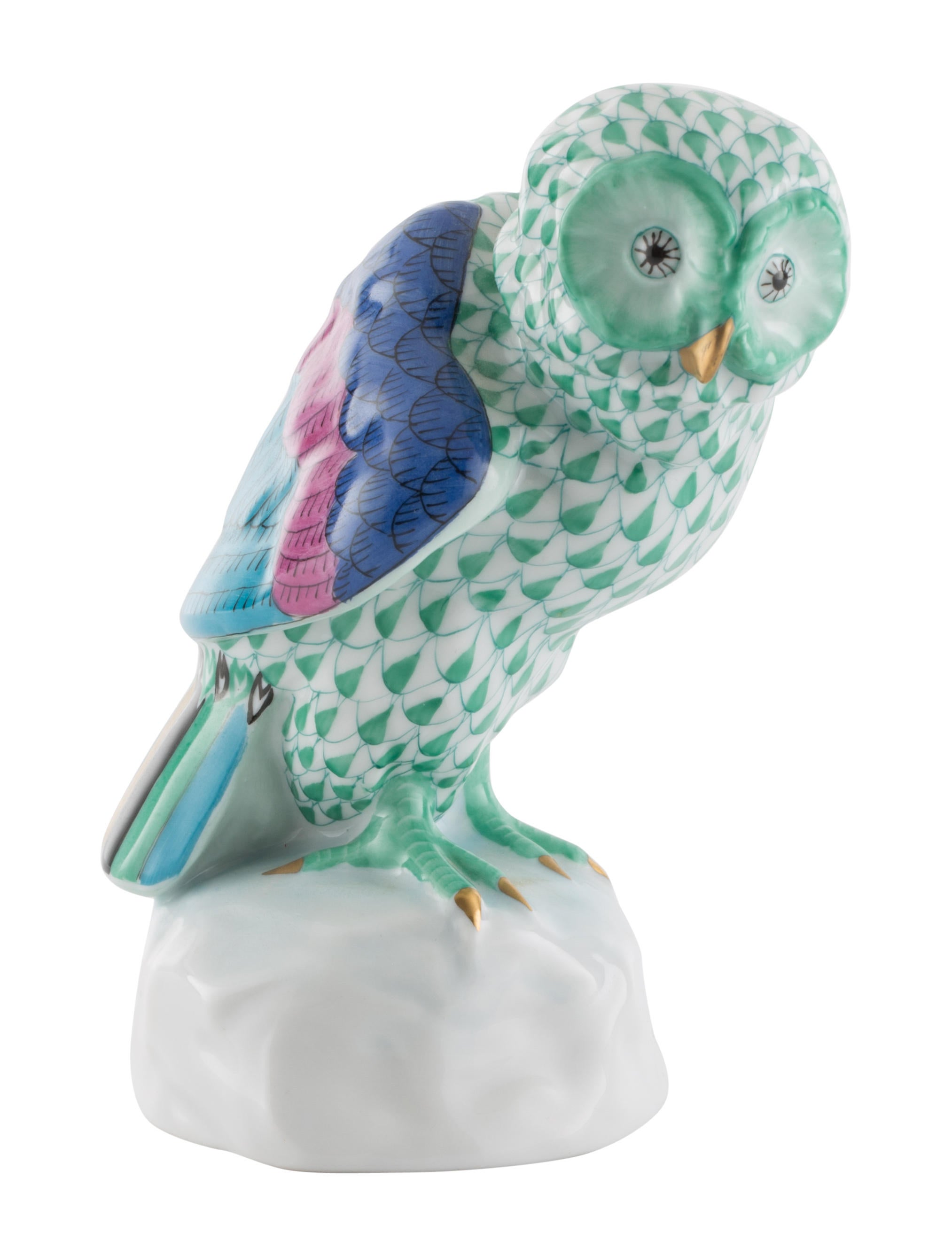 owl home decor accessories herend owl on base figurine decor and accessories 11686