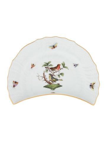 Herend Rothschild Bird Crescent Salad Plate None