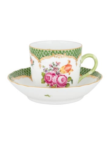 Herend Fruits & Flowers Cup & Saucer None
