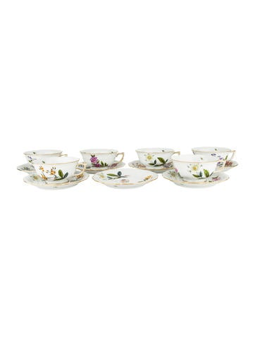 Herend 13-Piece Floral Partial-Tea Service None