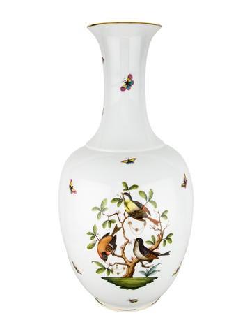Herend Large Rothschild Bird Vase None