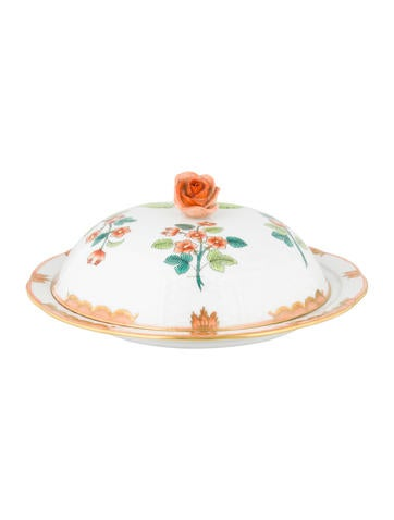 Herend Livia Muffin Dish & Lid None