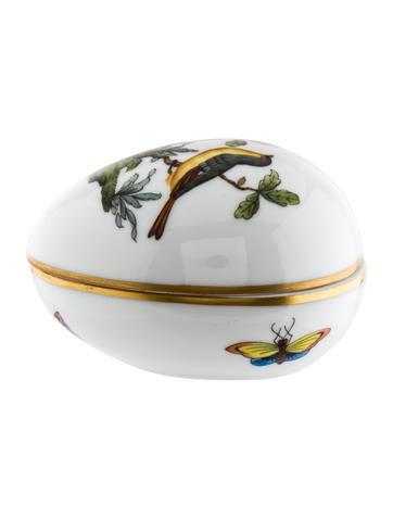 Herend Rothschild Bird Egg Trinket Box None