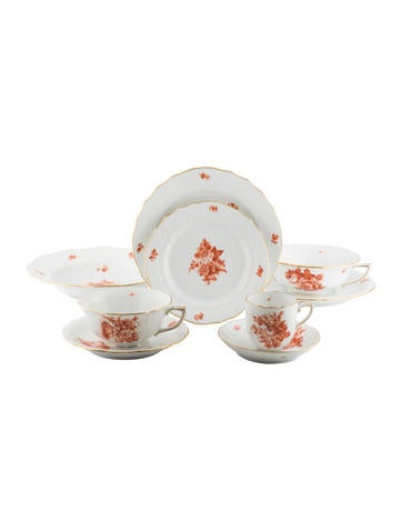 Herend 7-Piece Bouquet de Herend Rust Place Setting None