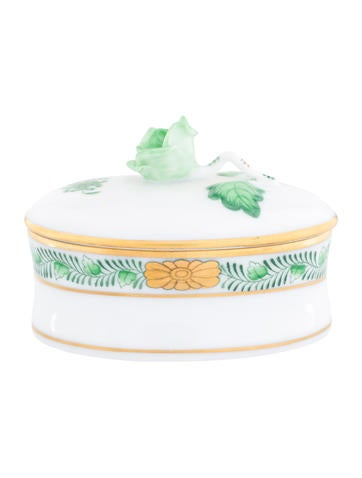 Herend China Bouquet Trinket Box None