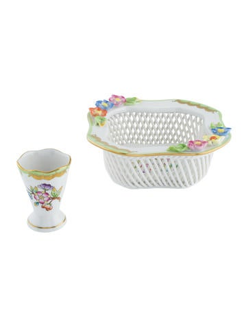 Herend 2-Piece Queen Victoria Bowl & Cup None