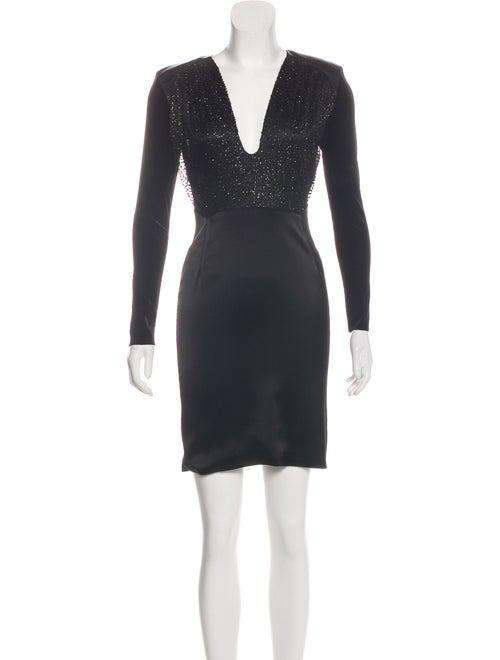 Haney Satin Mini Dress Black