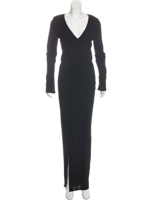 Haney Long Sleeve Maxi Dress Black