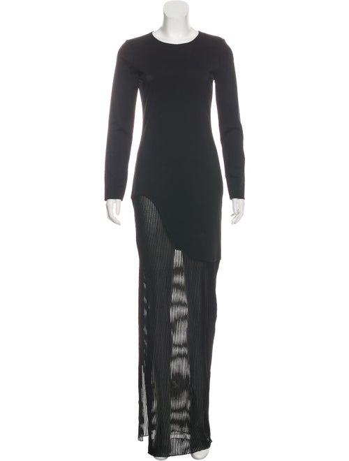 Haney Maxi Long Sleeve Dress Black